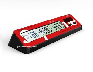 Phone number plate car for automotive interior accessories