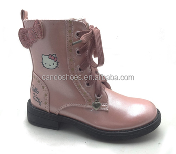 89ca2b739c5d Amazing Girls Pink Leather Boots Oem Cowboy Boots With Bowknot ...