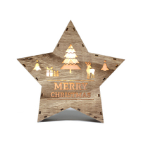 Christmas star shape hot sale wooden light box for home decoration