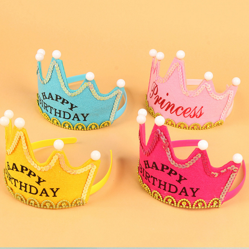 led prince and princess hat led birthday crown for kids