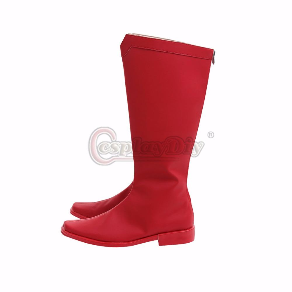 Botas Cosplay Mujeres Hombres Superman 43 Rojo De Unisex Clark Lujo Adulto 34 Kent Tamaño Zapatos Accesorio SUzMpV