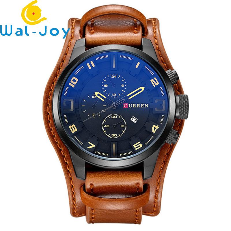 WJ-5911 CURREN 8225 High-end Casual Men's Dial Calendar Watch Waterproof Blue light Quartz Leather Wrist-watch фото