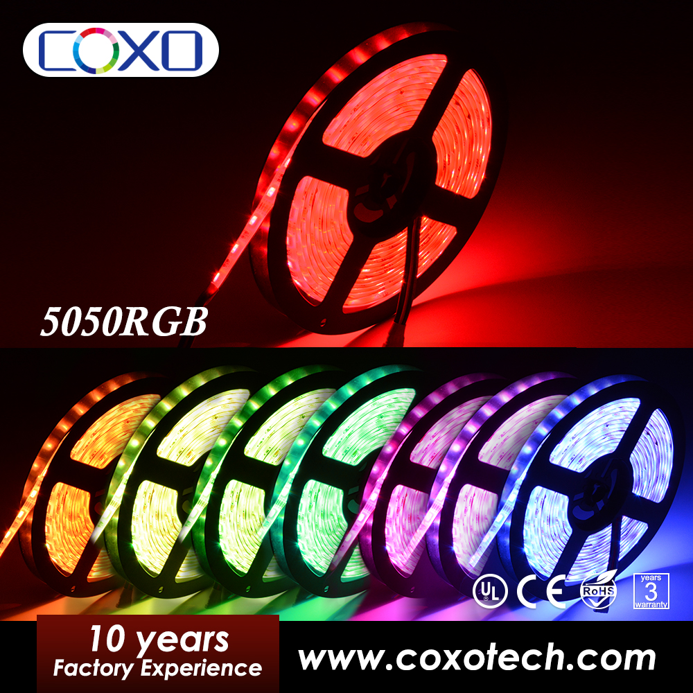 Outdoor Christmas Cuttable 1M 2M 5M 300leds Waterproof RGB Led Tape Ribbon Strip Light