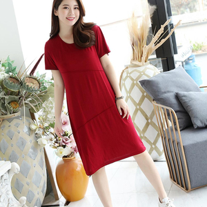 Wholesale Summer And Spring Women Sexy Modal Short-sleeved Slim Temperament womens's Dress