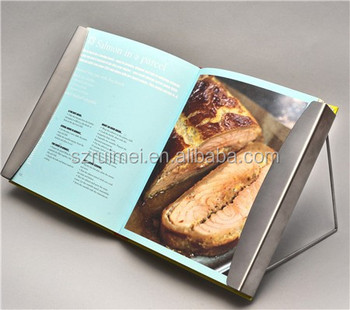 Tabletop book reading stand for cook custom made in China