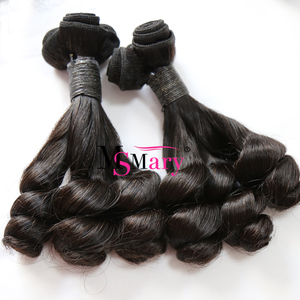 Wholesale 12A Grade One Bundle From One Single Donor Double Drawn Spring Culr Virgin Funmi Human Hair
