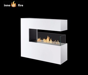 Inno living fire FS-12 free standing ethanol 3 sided electric fireplace