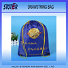 Manufacturing customized design polyester drawstring bag