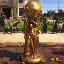 2018 Famous Life Size Full Size Metal Sculpture Bronze The World is Yours Statues for sale