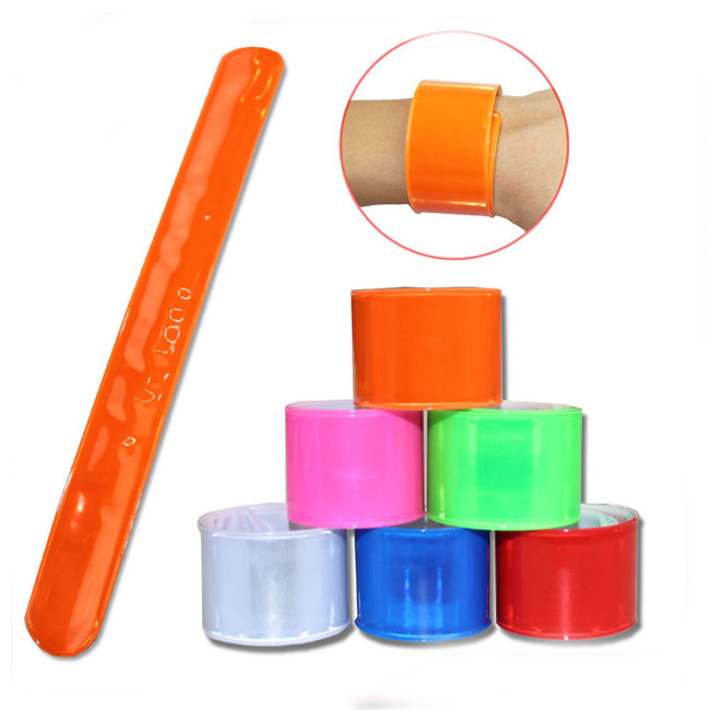 Reflective PVC Slap Band Wholesale Snap Slap Bracelet