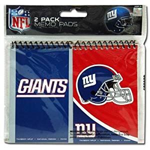 "NFL New York Giants 2pk Spiral 3x5"" Memo Pad in Poly Bag"