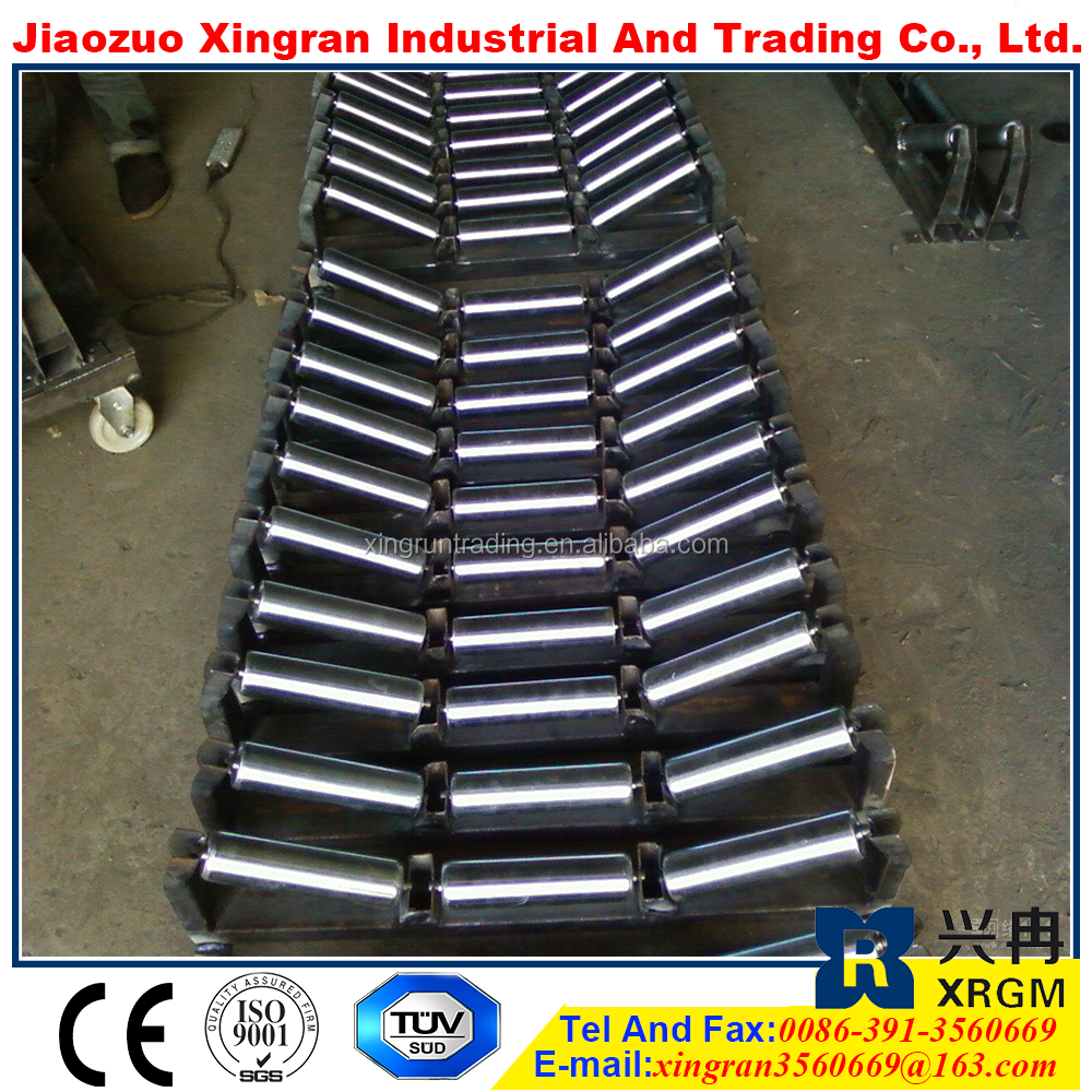 wheel frame with best price below centring flat idler roller steel pipe roller for machiney manufacturer