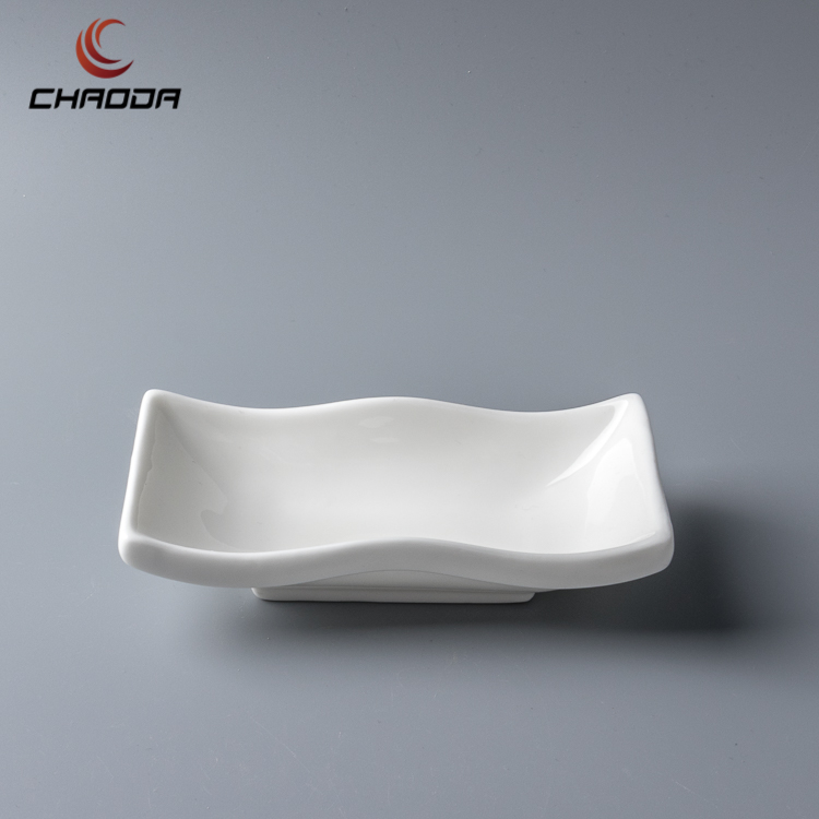 6 inch rectangle sauce dishes Low price excellent quality creative new design Rectangular sauce dish porcelain sauce plate