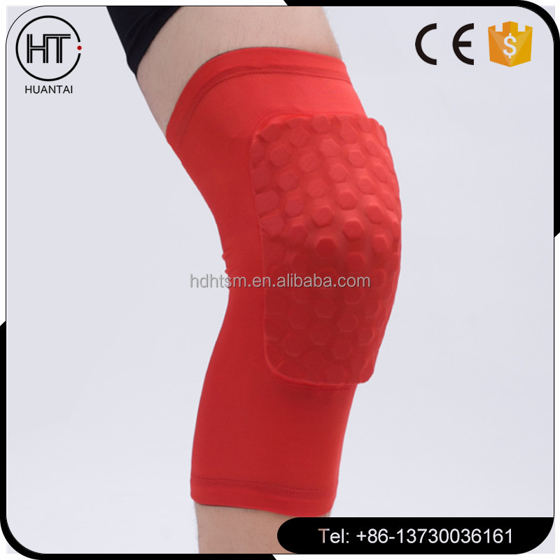 2017 hot sale Sport basketball guards cellular anti-collision extended knee pads To protect the calf ,colourful keen support