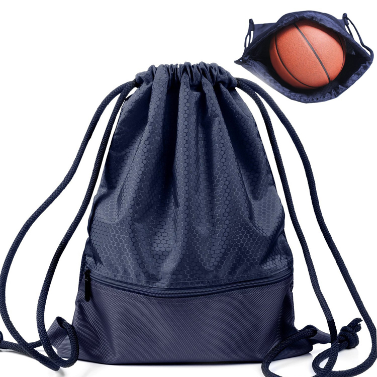 Custom Cheap Waterproof Polyester Sports Drawstring Bag Gym Drawstring Backpack
