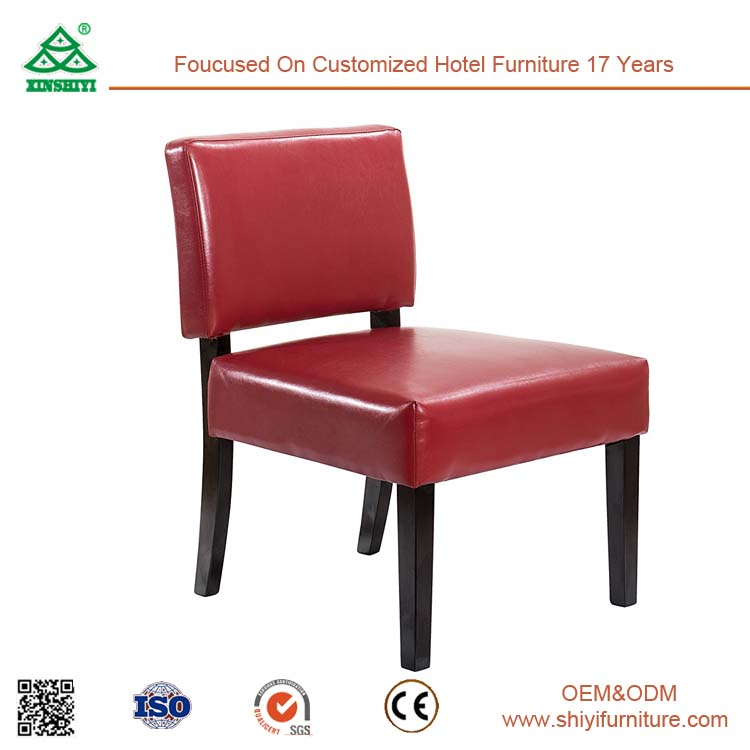 Ergonomic Design Relaxing Leisure Chair, Extra Comfortable Arm Chair Lumbar Support Wooden Leisure Chair