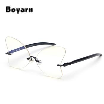a4252cff0aa1 butterfly glasses frames women cat eye clear lens 2018 black leopard pink  rimless glasses for women