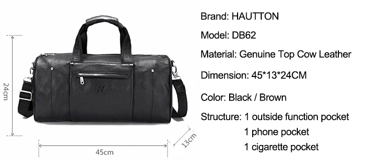 Extra Larger Genuine Leather Fashion Luggage Travel Bag Cowhide Leather Duffle Bag for Men