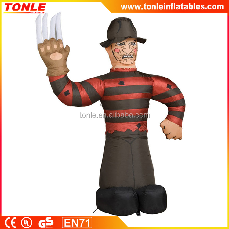gaint inflatable Freddy Krueger for festival