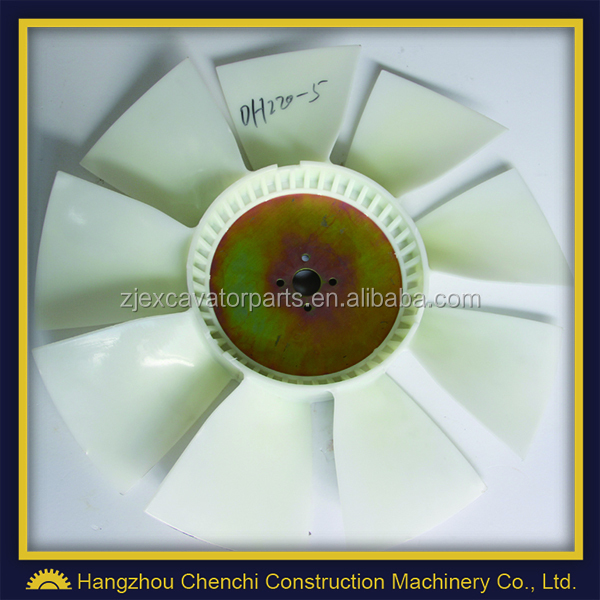 DH220-5 excavator DB58T engine parts fan balde 9 blades 4 holes in stock