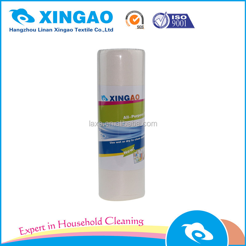 Bamboo fiber kitchen cleaning cloth in rolls for household usage