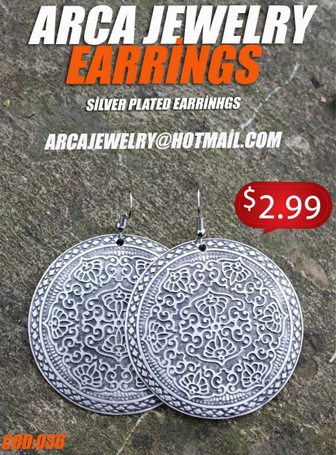 SILVER PLATED ZAMAC EARRINGS