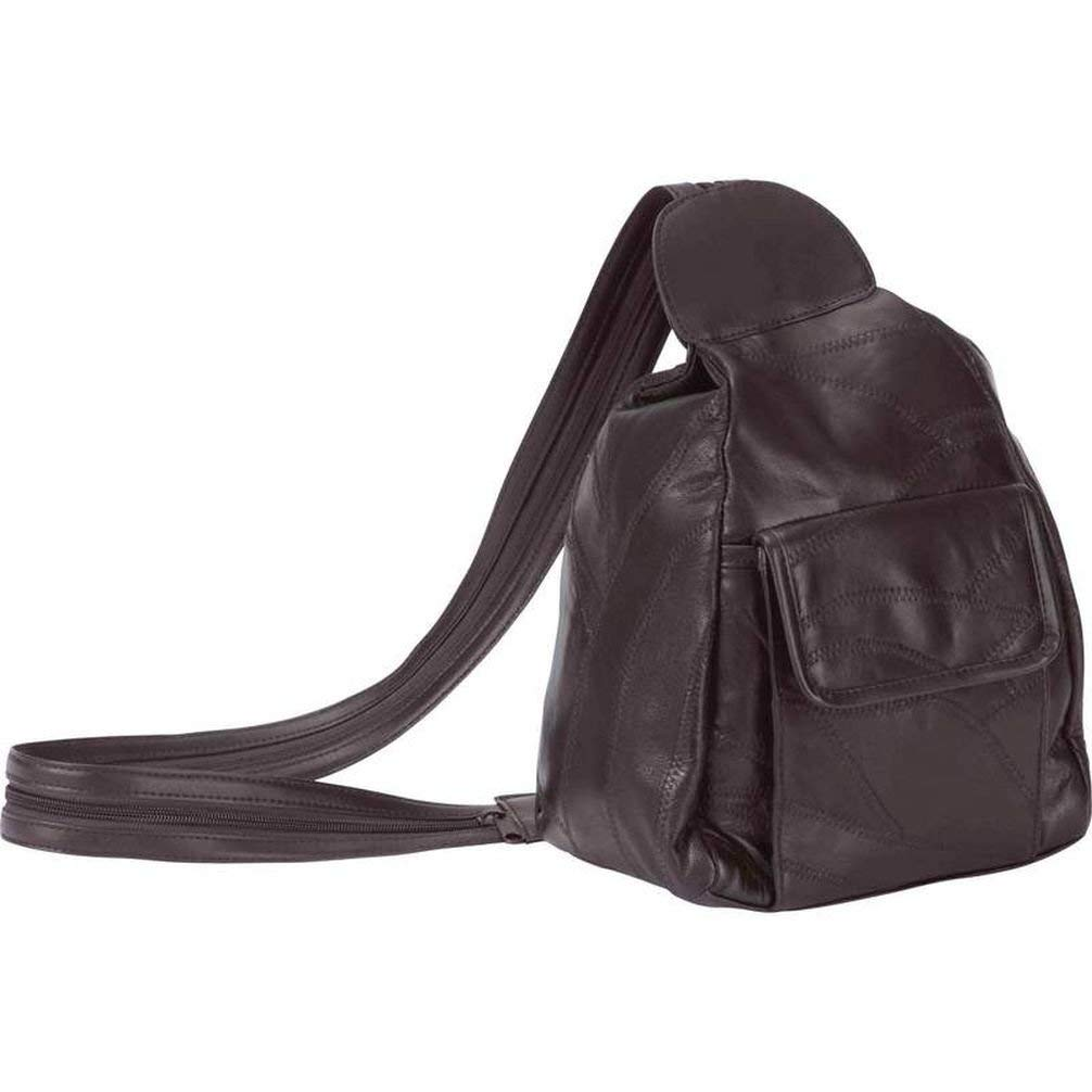 b7cf21e918 Get Quotations · Dancing Stone Brown Leather Hobo Sling Backpack Purse  Shoulder Bag