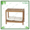 Eco style solid bamboo Spa Bench