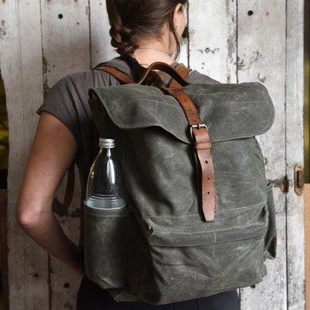 ce1b88706d61 Vintage Mens Waxed Canvas Rucksack Backpack Phestyn Bag - Buy ...