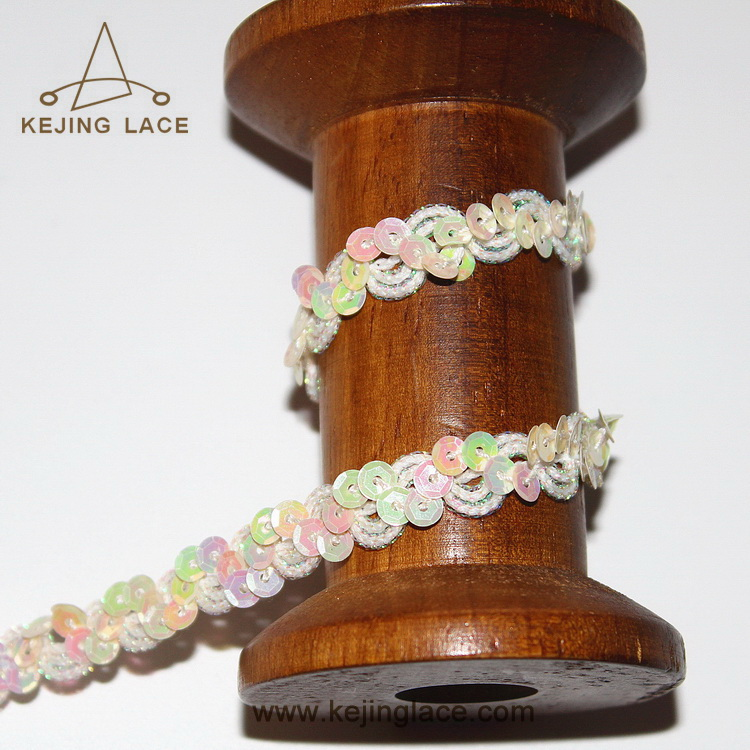 1.2CM Decorative Sequins Trimming Shining Trim Bead Trimming