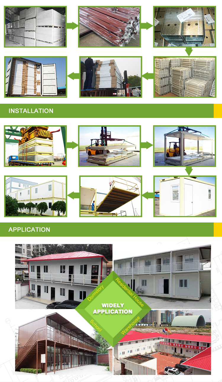 Flat Pack 20Ft 40Ft Container Woningen 40 Ft Luxe Container Prefab Huizen Plattegronden In Manilla Modulaire Tiny Huis Kits