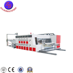 automatic corrugated carton box making machine flexo printer slotter and rotary die-cutter machine