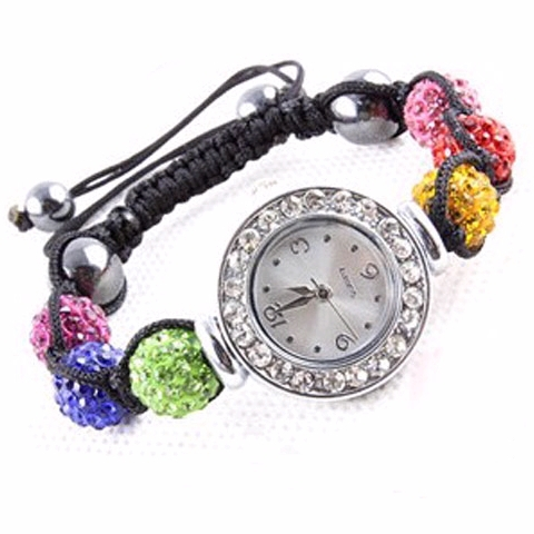 Women's Watch Bracelet Fashion Watch Rhinestone Ball Watch Bracelet Jewelry Free Shipping
