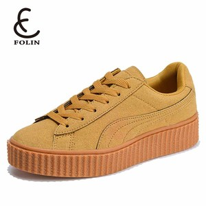 factory products no brand sneakers ladies casual fashion leisure sports shoes suede leather women designer sneaker