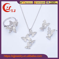 Customized Logo Printed Elegant Diamond Pendant Set Designs