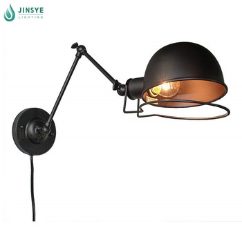 Rotatable Adjustable Swing Arm Wall Sconce E26 Edison Plug In Antique Wall Lamp Buy Antique Wall Lamp Plug In Wall Lamp Swing Arm Wall Lamp Product