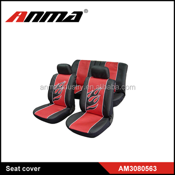 Lovely Red Leather With Oem Logo Car Seat Covers