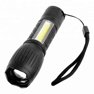 2019 New Factory Price Multifunction Flashlight T6 COB LED Red Light Flash Light Zoomable Torch for mining