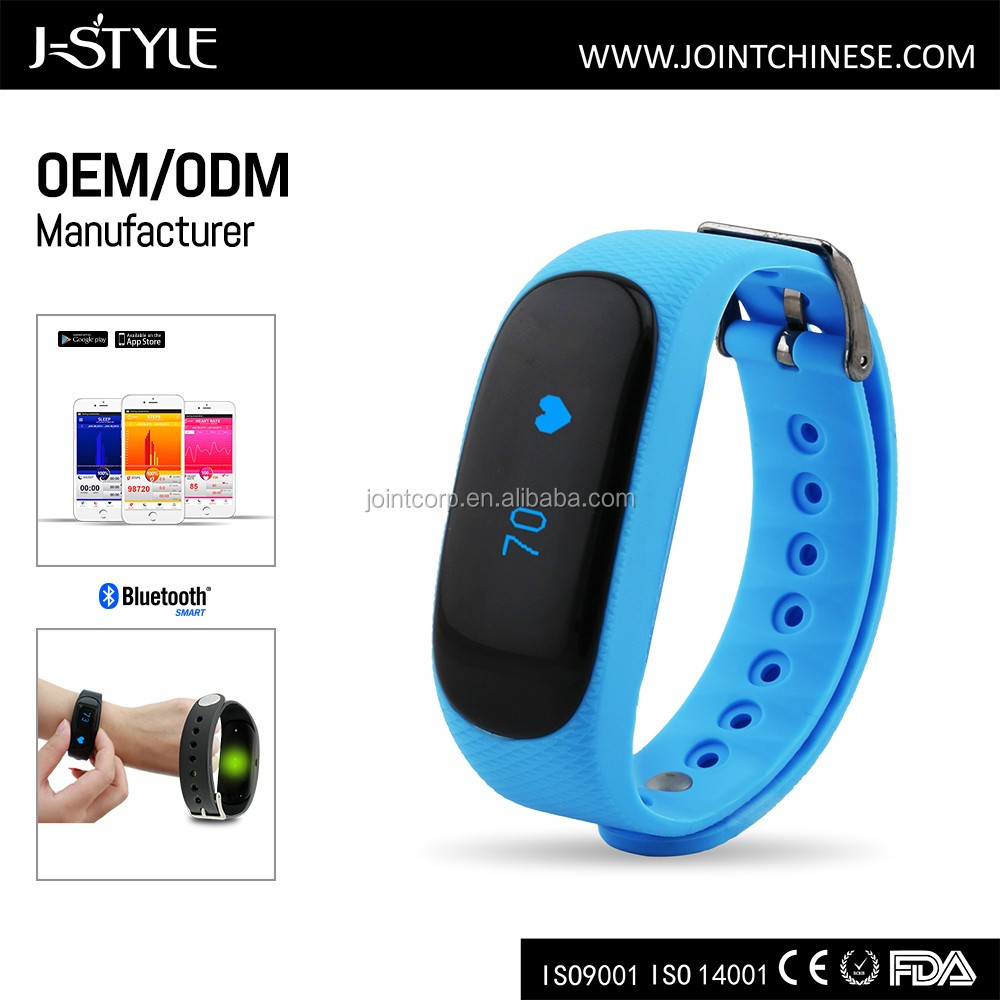 J-style Optical Heart Rate Monitor Silicone Bracelet Activity Tracker with SDK Fitbit Heart Rate