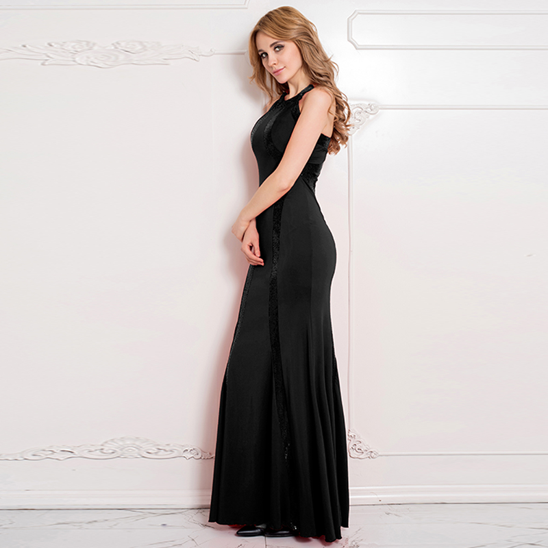 The Most Popular Design Fashion Party Wear Black Sequin Prom Dress
