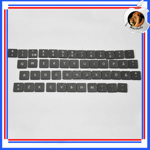 48pcs Keyboard Replacement Keys for Macbook Air A1370 A1369 2011 Swedish  Layout
