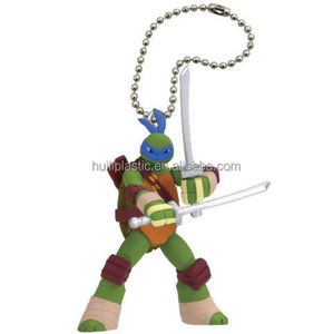 Custom plastic Teenage Mutant Ninja Turtles Figure Mascot Keychain Leonardo