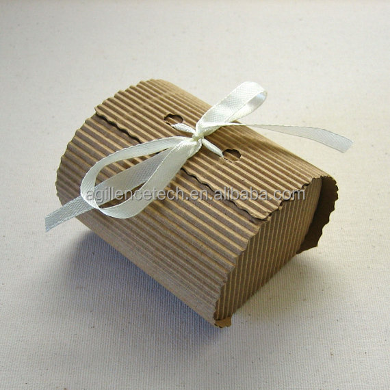 2015 Low MOQ corrugated paper cake packages Folding paper dessert packaging with logo print