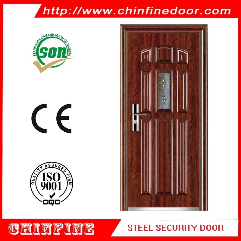 2016 alibaba new style israel steel door interior modern house buildng material door (CF-921)