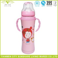 304 Food Grade Double Vaccum Insulation Stainless Steel Baby Feeding Bottle