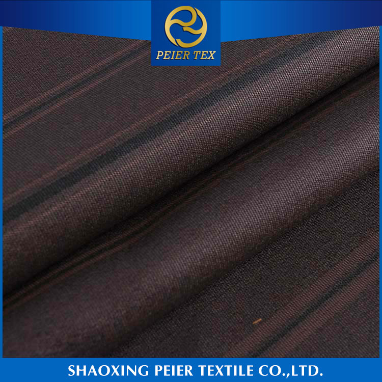 2016 new China manufacturer smooth 100% polyester suiting fabric