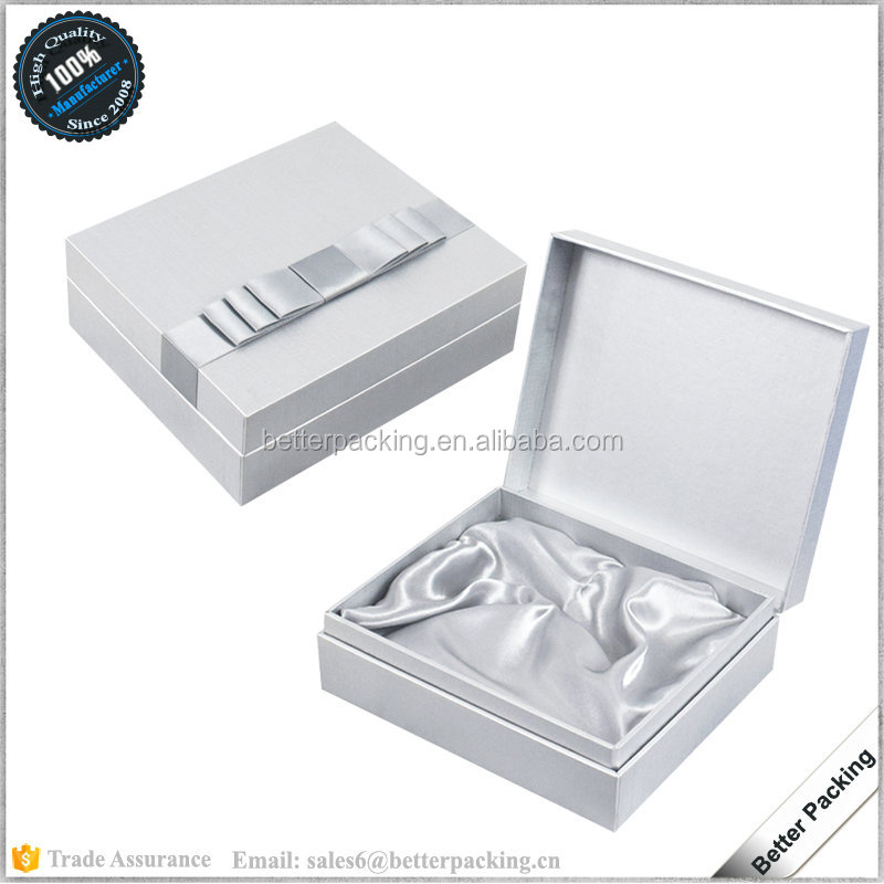 GBP334 Bowknot Wedding Door Novelty Silver Paper Gift Packaging Box