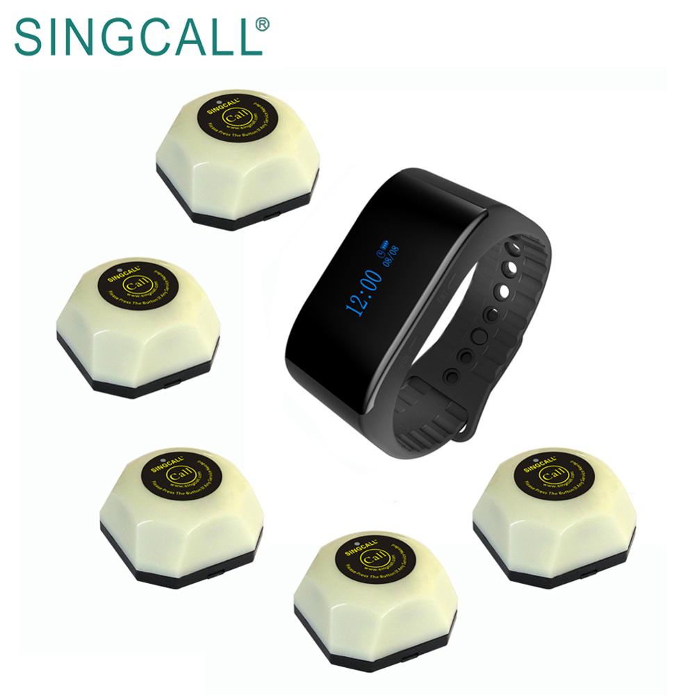SINGCALL wireless calling restaurant pager systeem draadloze service call horloge