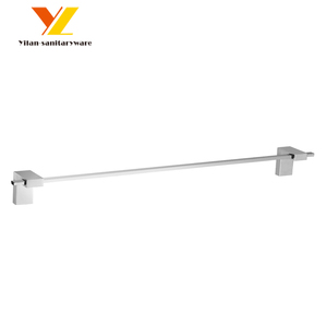Hospital and Hotel Bathroom Accessories Brass Single Shower Towel Bar and Rod 60cm