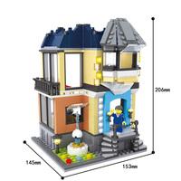 HSANHE educational game 504PCS Opera House building brick toys